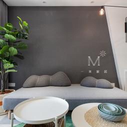 92㎡现代北欧客厅沙发图片