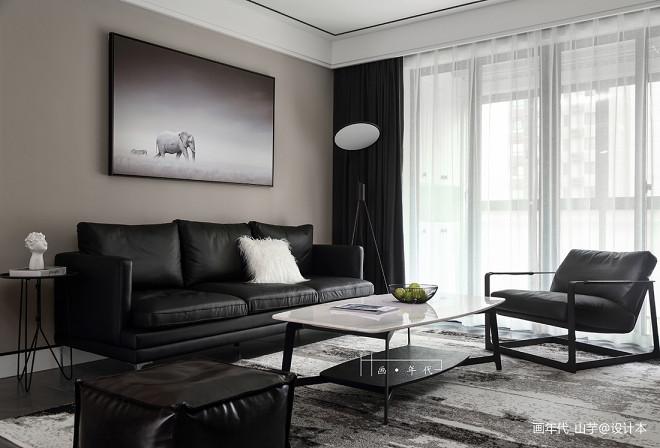 冷色调北欧风客厅沙发设计