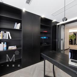 240㎡现代北欧书房书柜设计