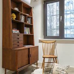 清爽美式书房书柜设计