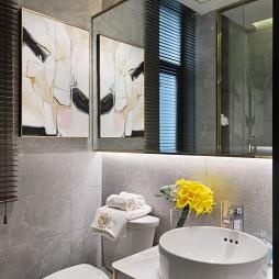 现代样板房洗手台图片