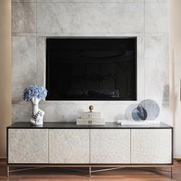 现代样板房卧室电视背景墙设计