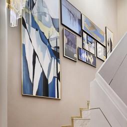 现代样板房楼梯墙画图片