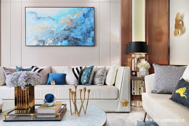 现代样板房客厅装饰画图片