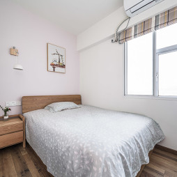 温暖的北欧风卧室图片