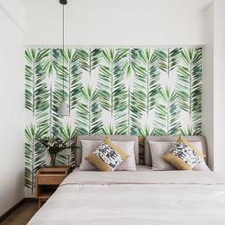 温暖的北欧风卧室壁纸图片