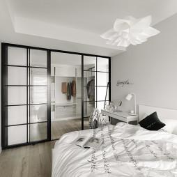 北欧小户型卧室推拉门图片