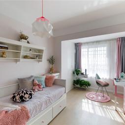 粉色浪漫北欧风儿童房设计图