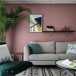 北欧风精装房客厅隔板装饰画图