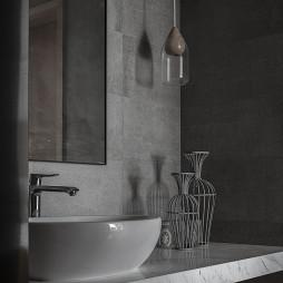迎恩府周宅现代卫浴洗手台设计