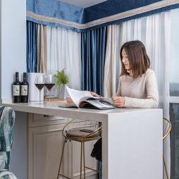 蓝调美式小吧台设计图