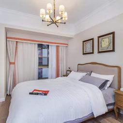 蓝调美式卧室设计图