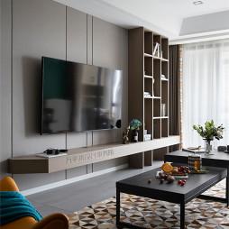 北歐客廳電視墻設計圖