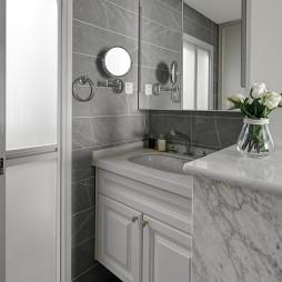 三居简约风卫浴洗手台设计图