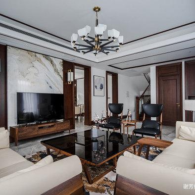 輕奢中式客廳吊燈圖片