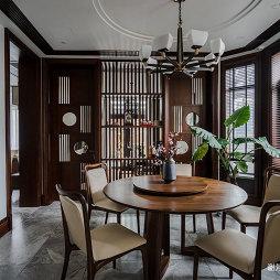 中式别墅餐厅吊灯图片