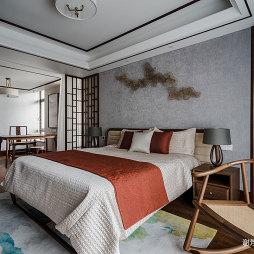 中式别墅卧室壁纸图片