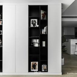 黑白过渡书架图片
