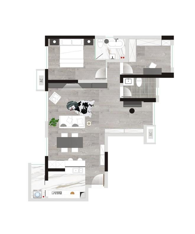 拿铁 黑白过渡的空间_3517084