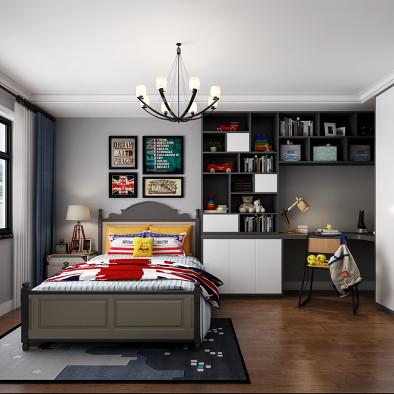 现代美式,让家人爱上回家--北京设计_3517685