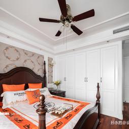 爱马仕橙美式卧室衣柜图片