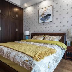木色中式卧室设计图