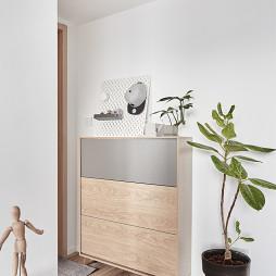 木色北欧玄关设计图