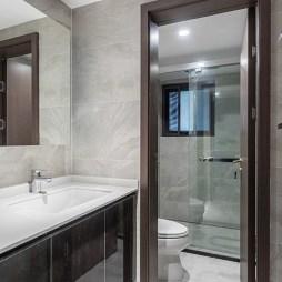 优雅现代复式卫浴洗手台设计图
