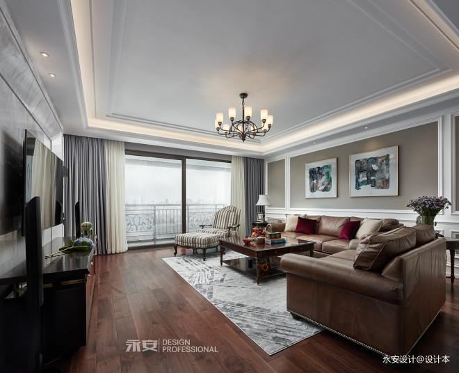 经典美式美式客厅吊灯图片