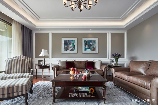 经典美式客厅沙发图片