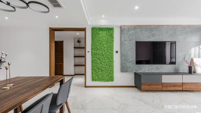 精简风三居客厅设计实景图