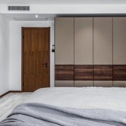 精简风卧室衣柜设计图片