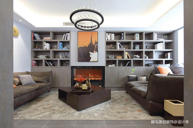 现代二居小户型客厅储物架设计