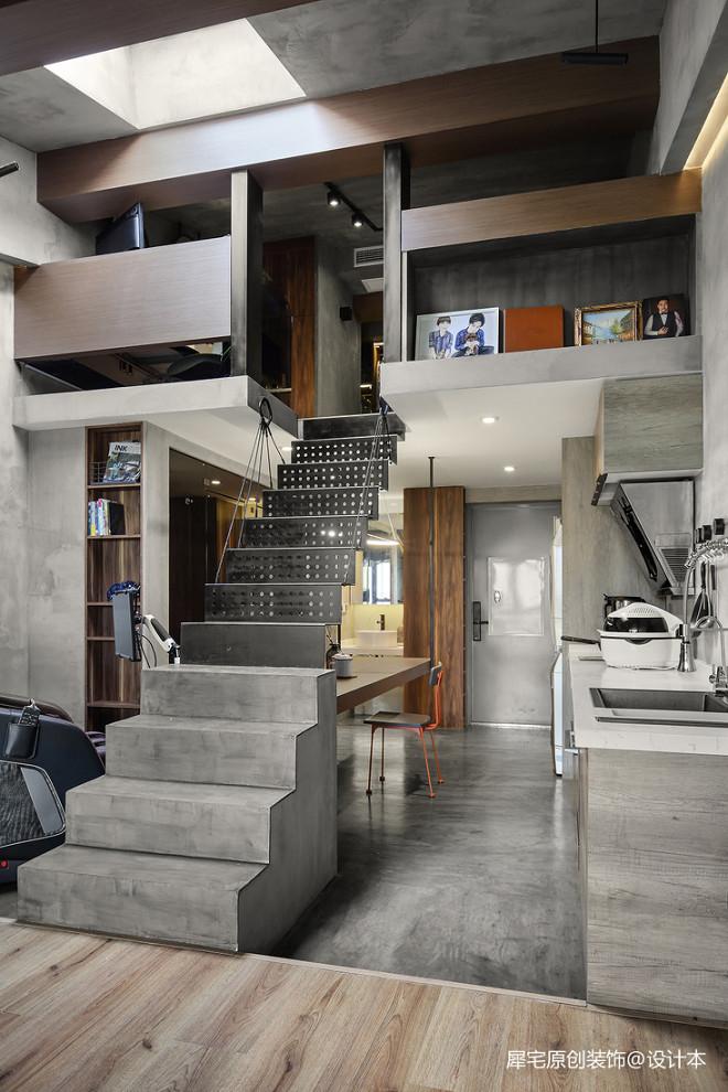 建面32平现代小户型楼梯设计