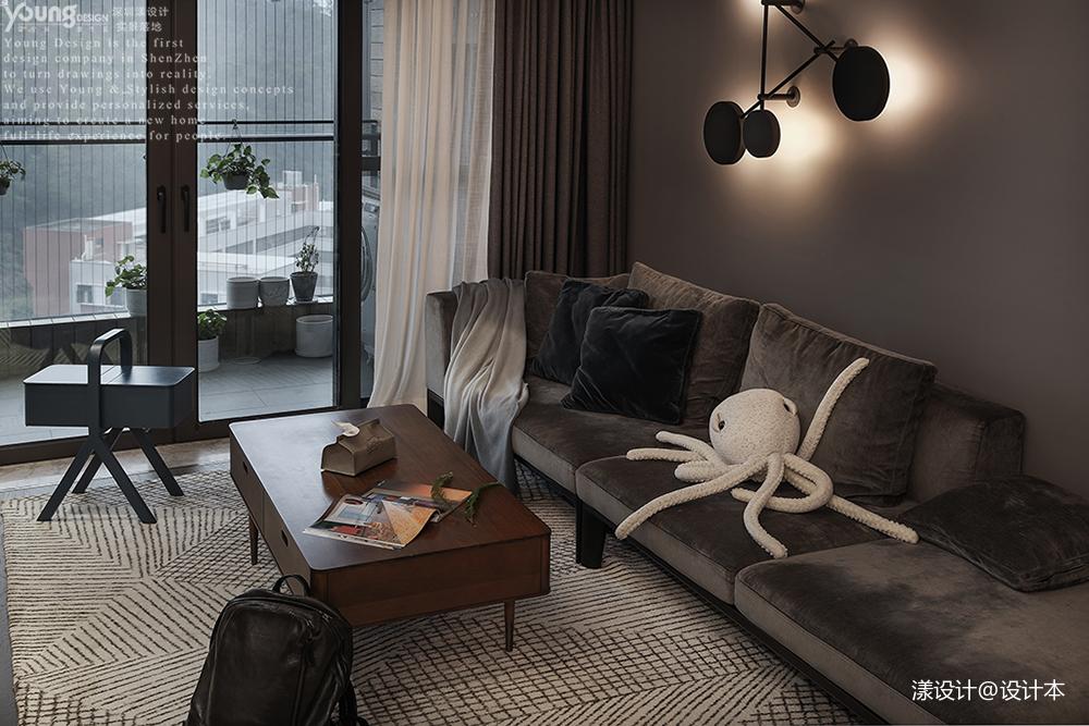 工业风吧台装修效果图_现代工业风客厅沙发图 – 设计本装修效果图