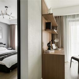 现代婚房卧室书房设计