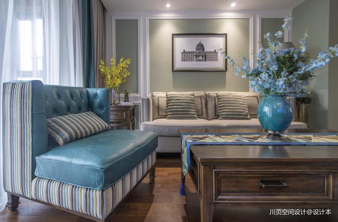 悠然美式客厅沙发图片