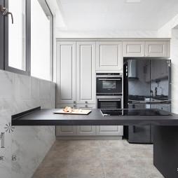 简洁美式复式厨房设计图片