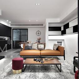 140㎡田园中式客厅设计图片