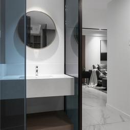 简单现代卫浴洗手台设计图