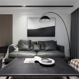 简单现代客厅落地灯设计图片