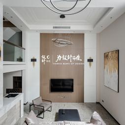 现代风大别墅客厅设计
