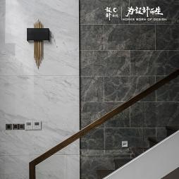 现代风大别墅楼梯设计