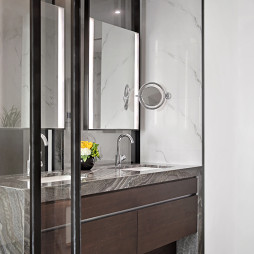 低调现代复式卫浴设计