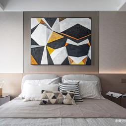 简约时尚卧室背景墙设计