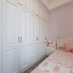 美式精致女儿房衣柜设计