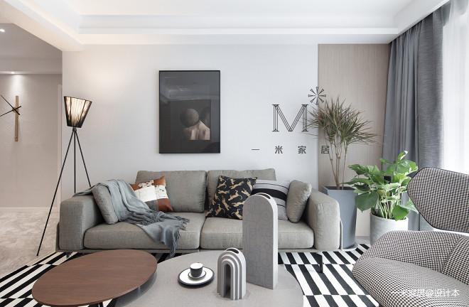 105㎡现代北欧客厅设计图