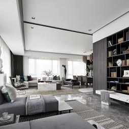 260平大平层样板房客厅实景图
