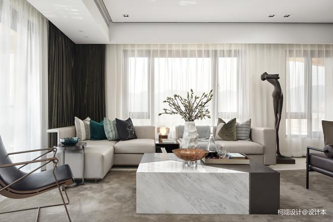 260平大平层样板房客厅实景图片