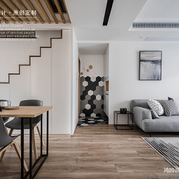 北欧原木风客厅设计图片
